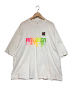 doublet(ダブレット)の古着「GRADATION NEON EMBROIDERY TEE」|ホワイト