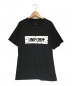 uniform experiment(ユニフォームエクスペリメント)の古着「ロゴプリントTシャツ」|ブラック