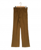 DAIRIKU(ダイリク)の古着「Straight Flasher Pressed Pants」 ブラウン