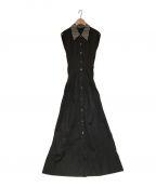 IRENE(アイレネ)の古着「ノースリーブワンピース」 ブラック