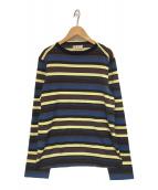 MARNI(マルニ)の古着「ボーダーカットソー」|ブルー×ネイビー