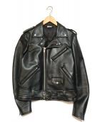 COMME des GARCONS HommePlus(コムデギャルソンオムプリュス)の古着「バックプリントライダースジャケット」|ブラック