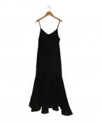 CLANE(クラネ)の古着「シフォンキャミソールワンピース」|ブラック