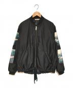 Soe(ソーイ)の古着「Nylon Bomber ボンバージャケット」 ブラック
