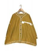 elephant TRIBAL fabrics(エレファントトライバルファブリックス)の古着「ワイドベースボールシャツ」|イエロー