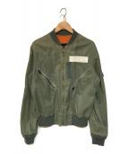 ()の古着「リバーシブルジャケット」 オリーブ