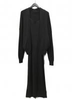 FRAY ID(フレイアイディー)の古着「アンサンブルニットワンピース」|ブラック