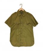 NIGEL CABOURN(ナイジェルケーボン)の古着「半袖ミリタリーシャツ」 カーキ