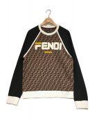 FENDI×FILA(フェンディ×フィラ)の古着「Crewneck Sweatshirt スウェット」|ブラウン