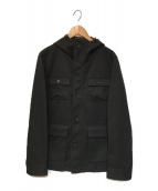 ()の古着「フーデッドジャケット」|ブラック