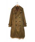 ()の古着「OFFICER'S TRENCH COAT コート」 オリーブ