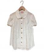 V.W. RED LABEL(ヴィヴィアンウエストウッドレッドレーベル)の古着「ラウンドカラーS/Sシャツ」|ホワイト