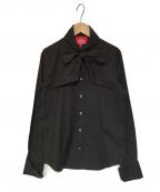 V.W. RED LABEL(ヴィヴィアンウエストウッドレッドレーベル)の古着「ジャガードボウタイシャツ」|ブラック