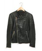 MUSHER(マーシャー)の古着「ラムレザージャケット」|ブラック