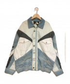 ISABEL MARANT(イザベルマラン)の古着「パッチワークデニムジャケット」|スカイブルー