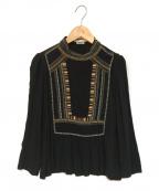 ISABEL MARANT(イザベルマラン)の古着「エンブロイダリーブラウス」|ブラック