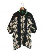 77circa(ナナナナサーカ)の古着「花柄シャツ フローラルプリント」 ブラック