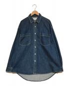 Graphpaper(グラフペーパー)の古着「DENIM REGULAR COLLAR SHIRT シャツ」