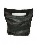 HIROKO HAYASHI(ヒロコ ハヤシ)の古着「レザートートバッグ」 ブラック