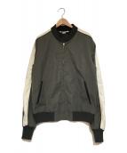 ()の古着「バイカラーボンバージャケット」|グレー