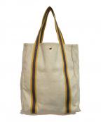 LORO PIANA(ロロピアーナ)の古着「キャンバストートバッグ」 アイボリー