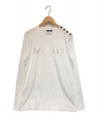 BALMAIN(バルマン)の古着「フロントロゴロングスリーブカットソー」|ホワイト
