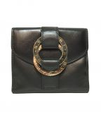 BVLGARI(ブルガリ)の古着「3つ折り財布」 ブラック
