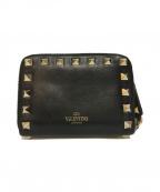 VALENTINO GARAVANI(ヴァレンティノ・ガラヴァーニ)の古着「ロックスタッズコインケース」|ブラック
