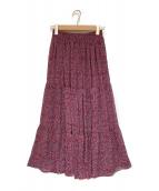 ()の古着「フラワーシフォンスカート」|ピンク