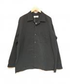 MARKA(マーカ)の古着「SIDE SLIT OPEN COLLAR SHIRTS」|ブラック