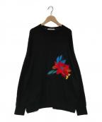 UN3D.(アンスリード)の古着「刺繍スウェット」|ブラック