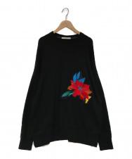 UN3D. (アンスリード) 刺繍スウェット ブラック サイズ:F