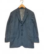 LORO PIANA(ロロピアーナ)の古着「シルクカシミヤテーラードジャケット」 ブルー