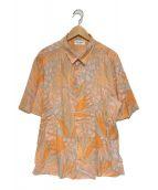 Saint Laurent Paris(サンローランパリ)の古着「S/Sシャツ」|オレンジ
