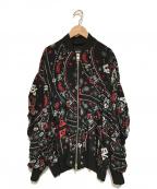 DIESEL()の古着「ペイズリーブルゾン」|ブラック
