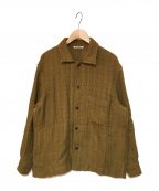 AURALEE(オーラリー)の古着「COTTON LINEN LENO BLOUSON」|ブラウン