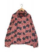 SUPREME(シュプリーム)の古着「raglan court jacket flag ジャケット」|レッド×ネイビー