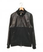 1piu1uguale3(ウノピゥウノウグァーレトレ)の古着「コンビネーショントラックジャケット」|ブラック