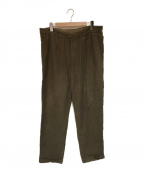nestrobe confect(ネストローブ コンフェクト)の古着「Brushed Linen Easy Pants」 オリーブ