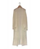 DEMYLEE(デミリー)の古着「リネンロングカーディガン」|ホワイト