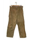 ()の古着「多素材ミックス製品加工パンツ」 ベージュ