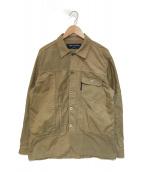()の古着「異素材切替ジャケット」 ベージュ