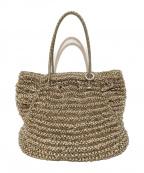 ANTEPRIMA(アンテプリマ)の古着「ワイヤートートバッグ」|ゴールド