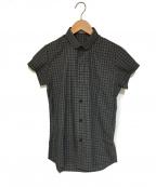DIOR HOMME(ディオール オム)の古着「チェック半袖シャツ」 グレー
