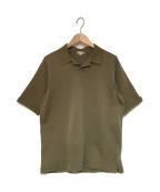 STEVEN ALAN(スティーブンアラン)の古着「ニットポロシャツ」|オリーブ