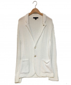 LARDINI(ラルディーニ)の古着「パイルテーラードジャケット」 ホワイト