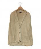 LARDINI(ラルディーニ)の古着「ニットジャケット」 ベージュ