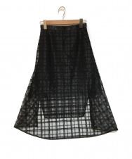 ADELLY (アデリー) オーガンジーフレアスカート ブラック サイズ:表記なし