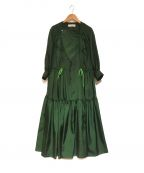 TOGA PULLA(トーガプルラ)の古着「TWILL DRESS ドレス ワンピース」 グリーン