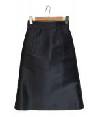 ()の古着「シルク混スカート」|ネイビー